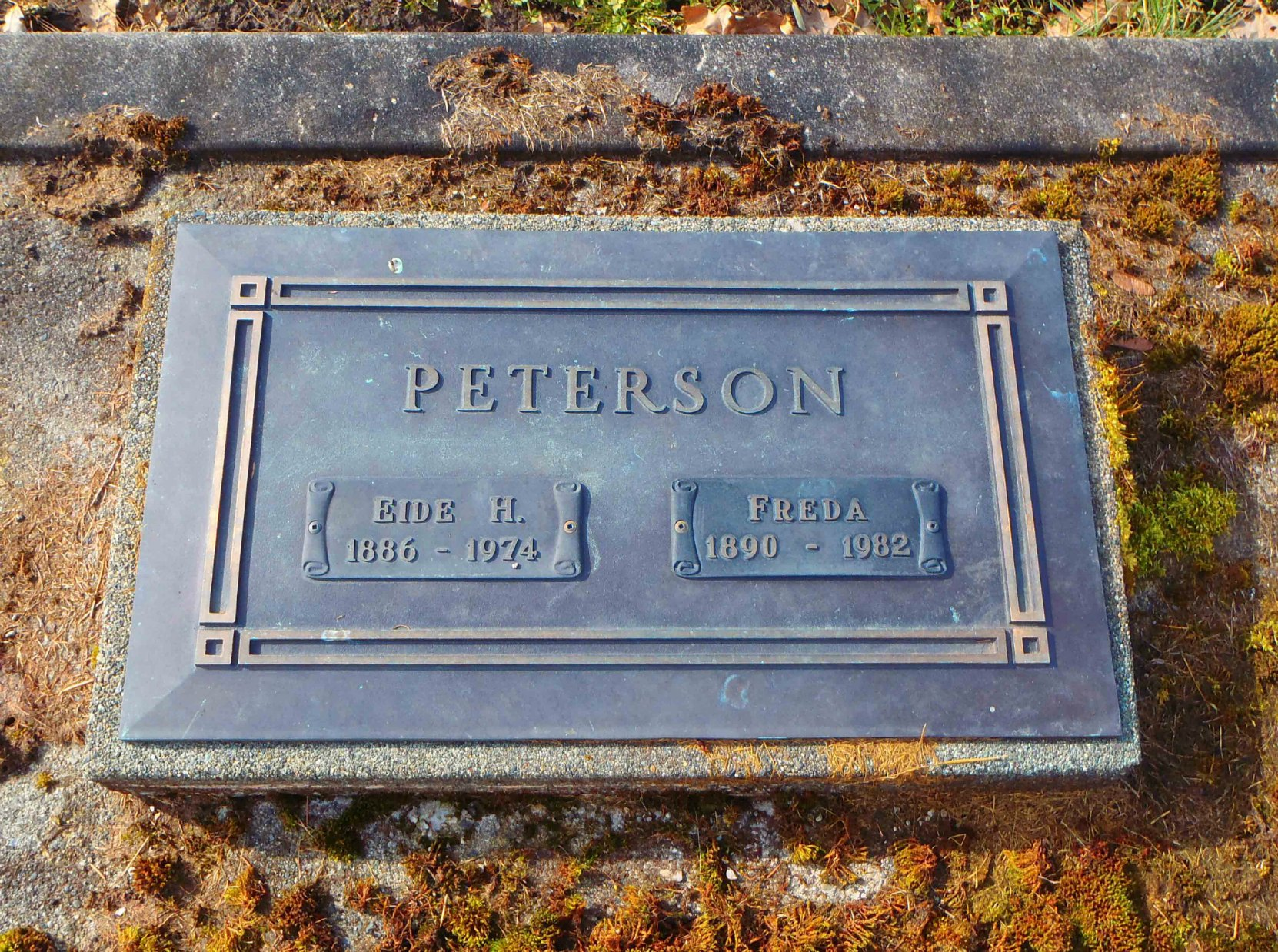 Eide Henry Peterson grave marker, St. Mary's Somenos Anglican Cemetery, North Cowichan
