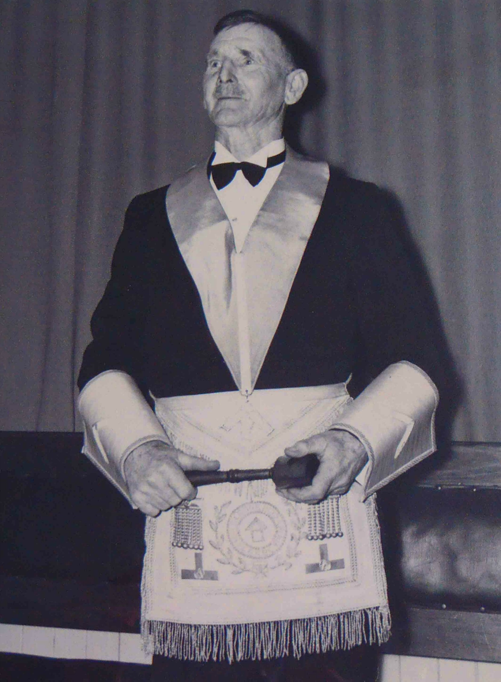 Eide Henry Peterson in Masonic regalia, circa 1958.