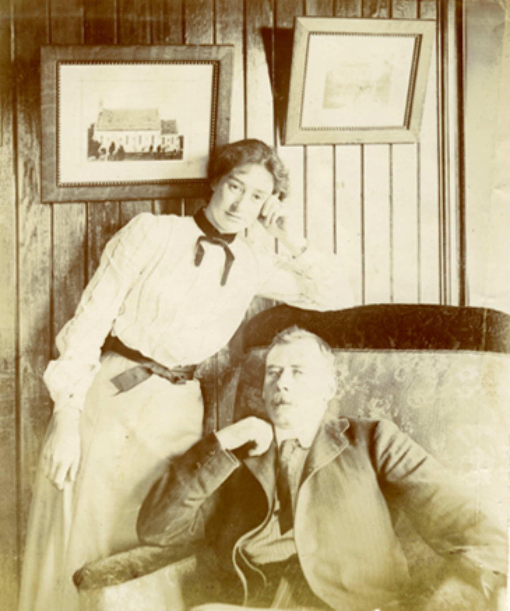 Ernest Alfred Price and Ada Price, circa 1900 (photo courtesy of Keith Price)