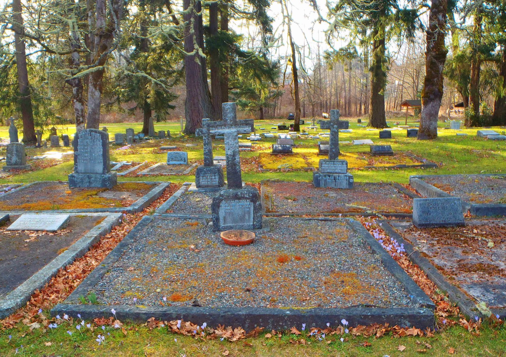 Francis James Norie family burial plot, St. Peter's Quamichan Anglican cemetery, North Cowichan.