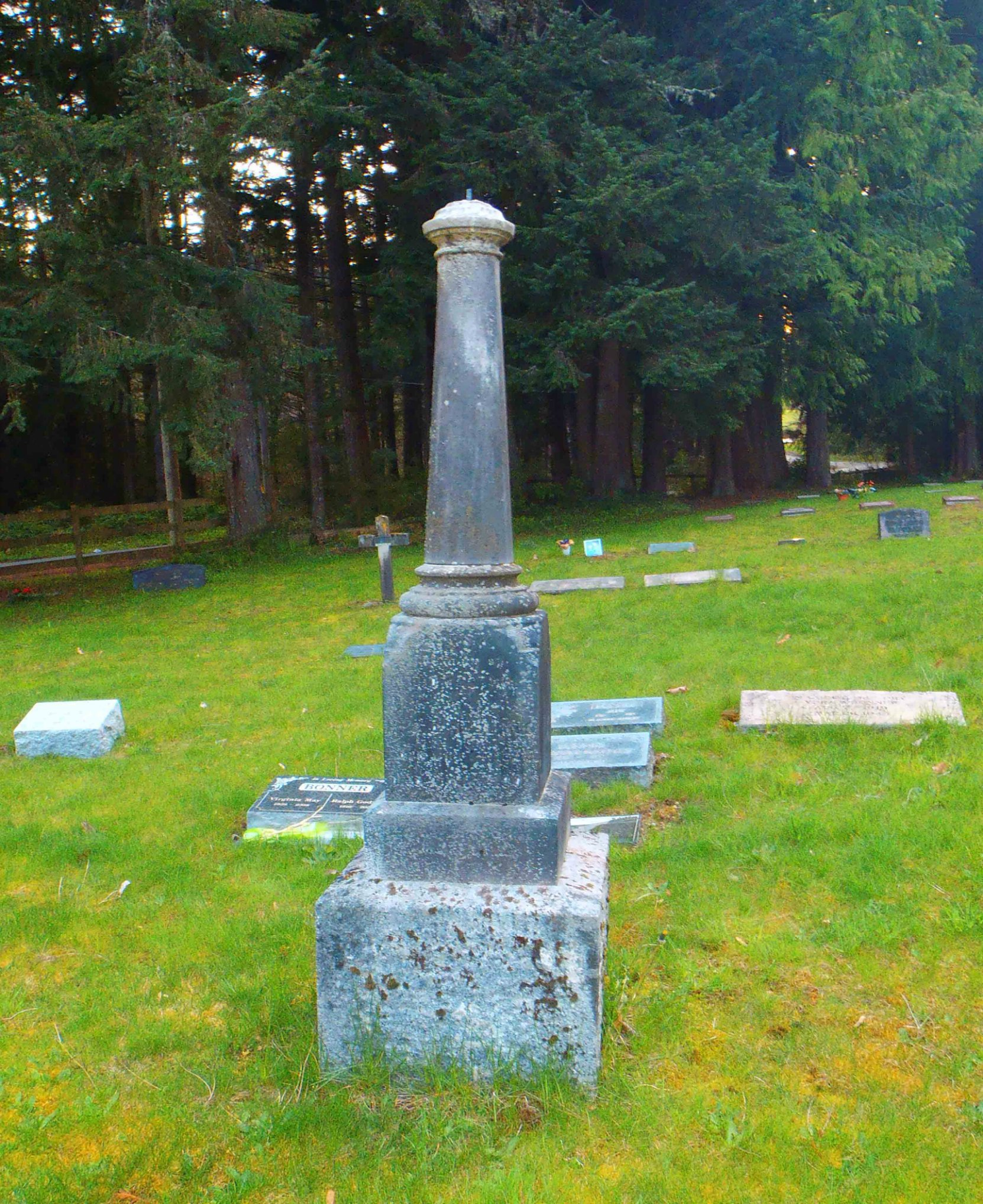 Henry Samuel Hollings grave, St. John the Baptist Anglican Church cemetery, Cobble Hill, B.C.