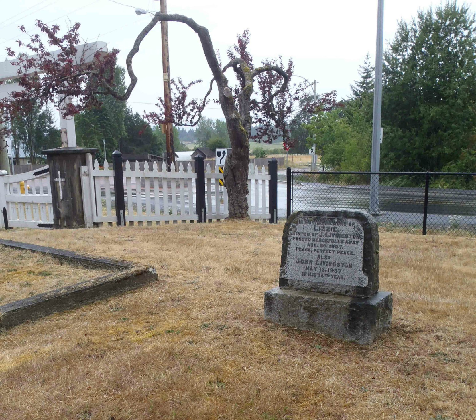 John Livingston grave, Mountain View Cemetery, North Cowichan, B.C.