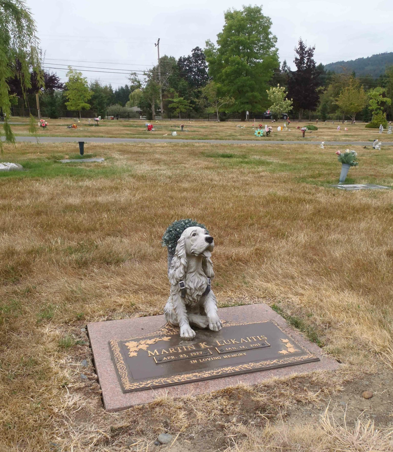 Martin Lukaitis grave, Mountain View Cemetery, North Cowichan, B.C.