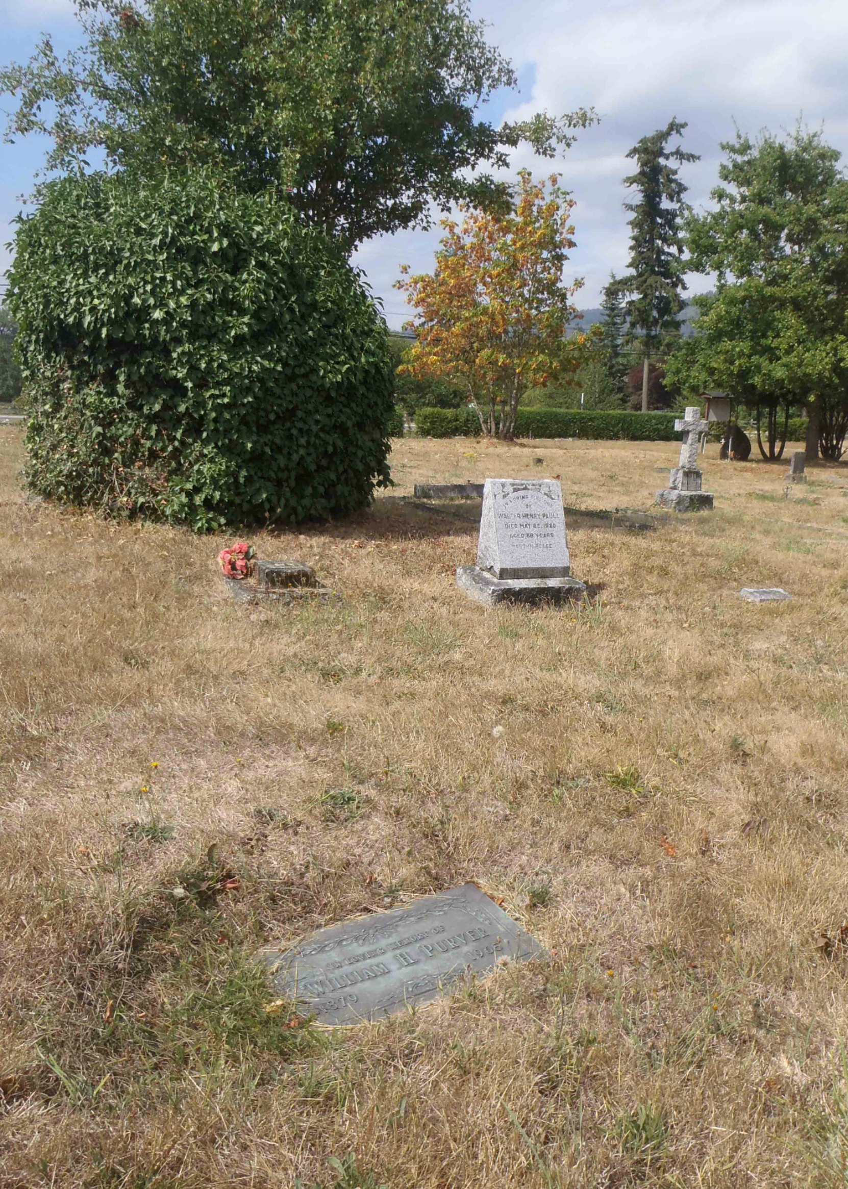 William Purver grave, St. Mary's Somenos Anglican Cemetery, North Cowichan, B.C.
