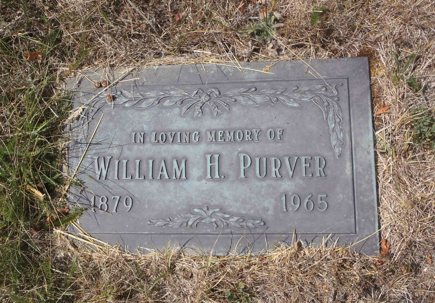 William Purver grave marker, St. Mary's Somenos Anglican Cemetery, North Cowichan, B.C.