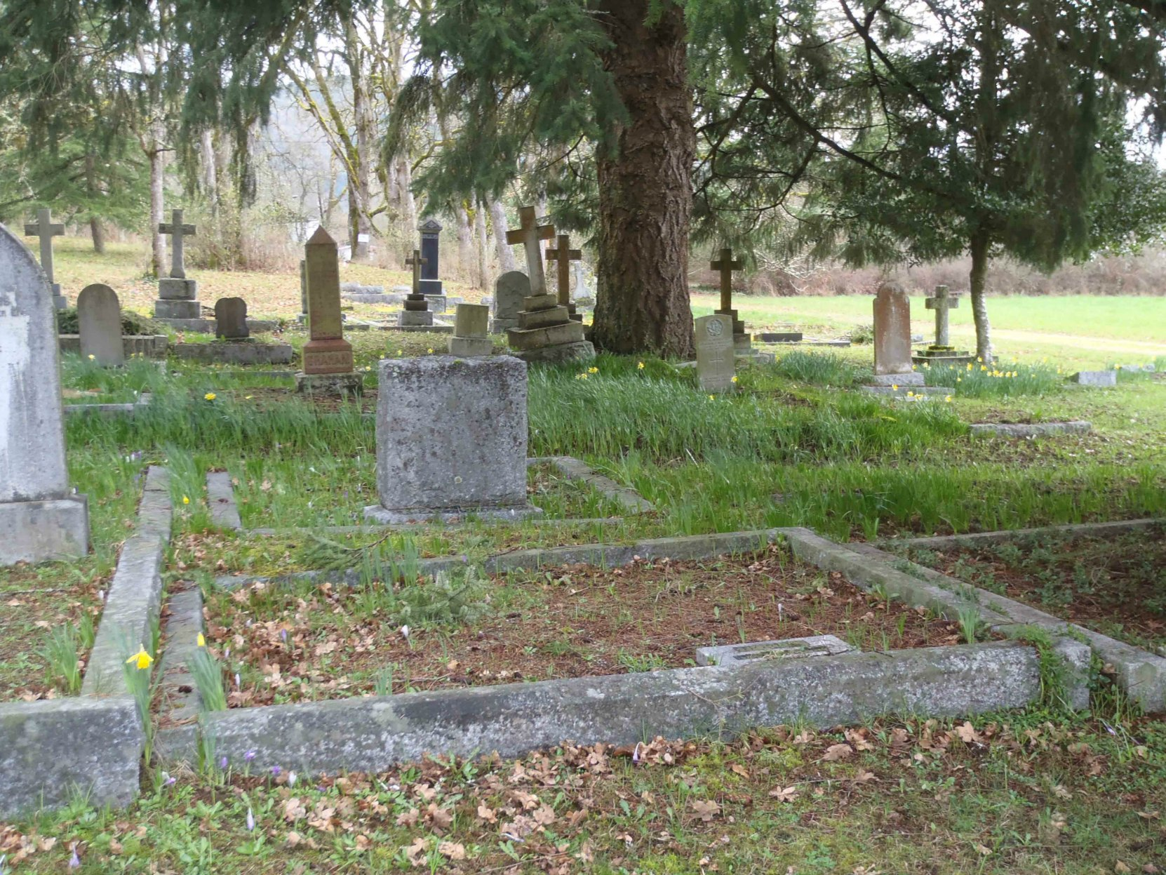 Robinson Ventress grave, St. Peter's Quamichan Anglican cemetery, North Cowichan