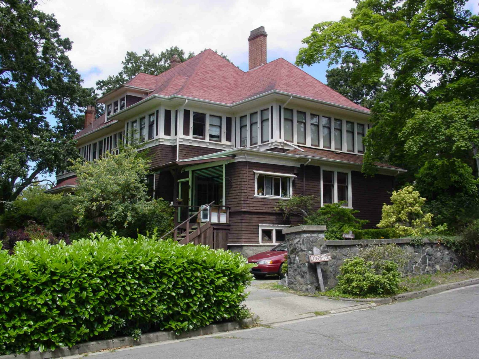 Simon Leiser's house at 1005 St. Charles Street, Victoria, B.C.