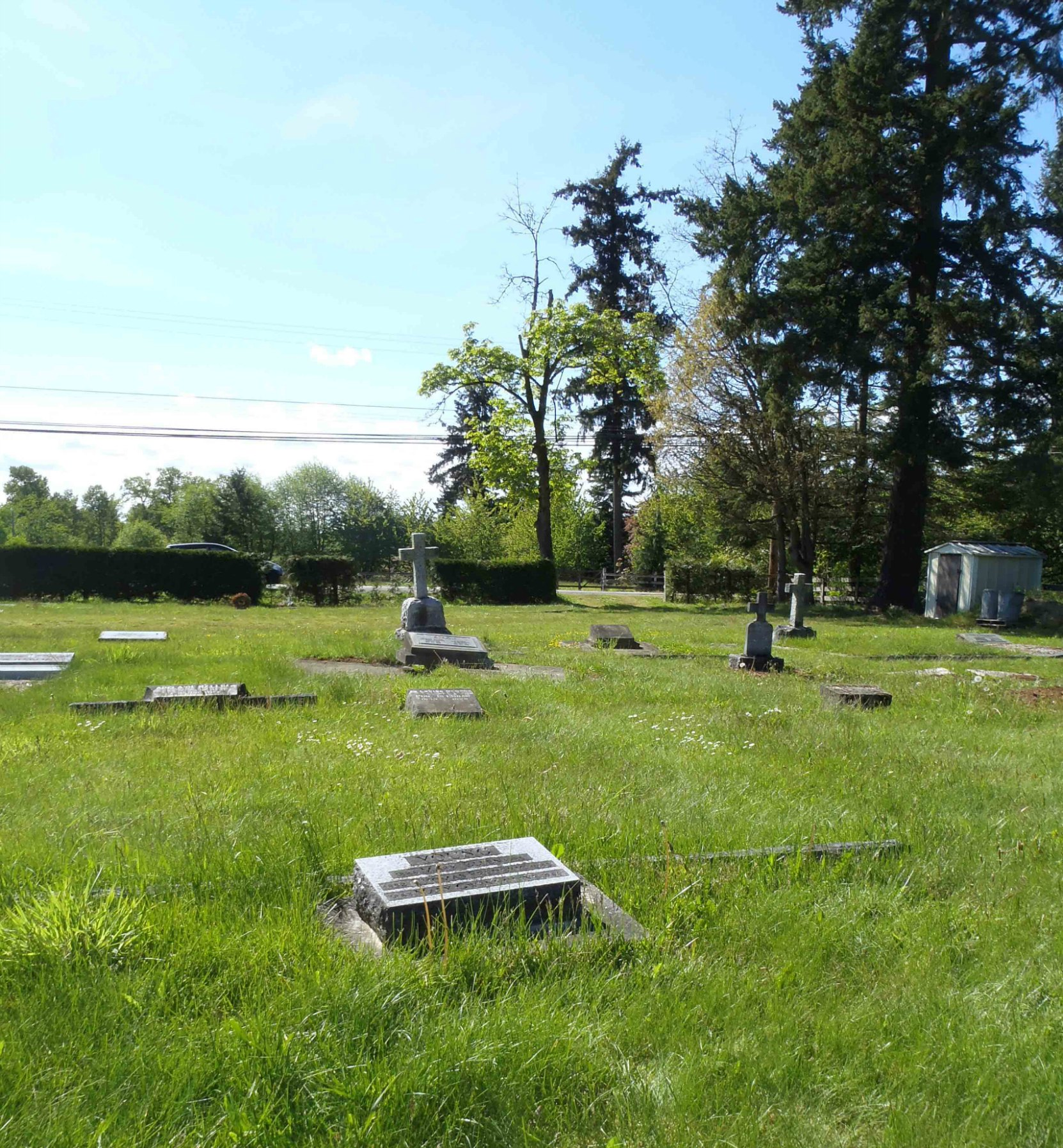 Thomas Frederick Young grave, St. Mary's Somenos Anglican Cemetery, North Cowichan, B.C.