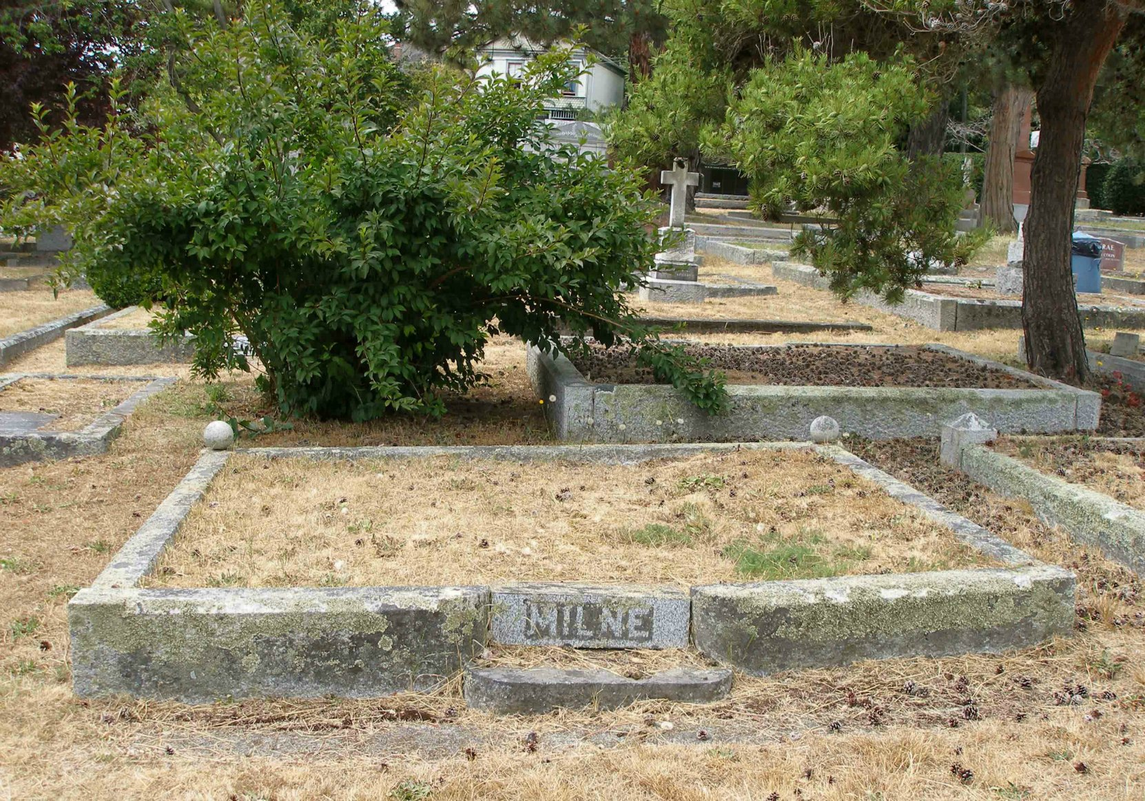 Alexander Roland Milne (died 1904, aged 65), grave in Ross Bay Cemetery, Victoria, B.C.