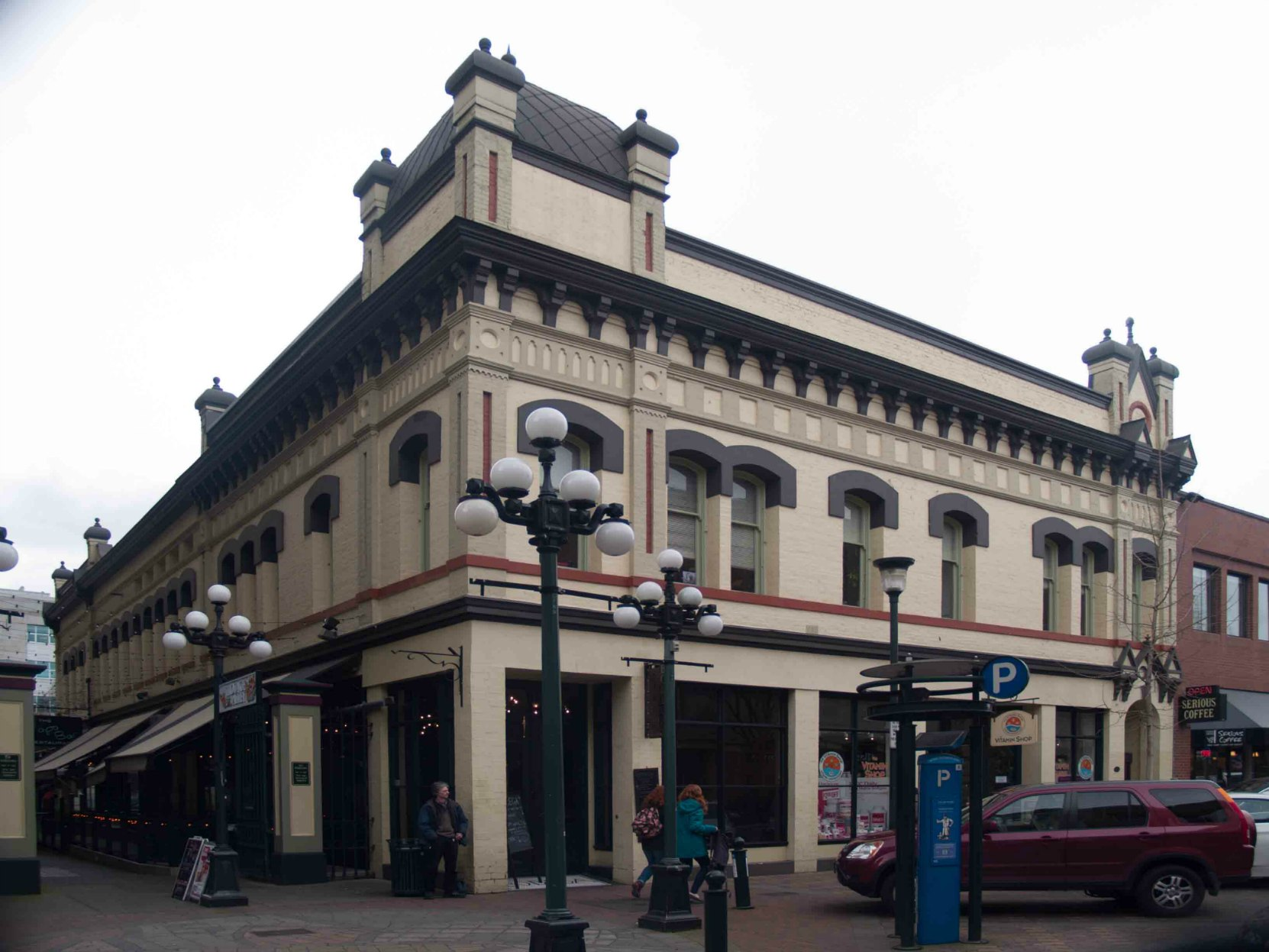 1210-1216 Broad Street, built for Alexander Alfred Green. This building was the location of Victoria's first telephone exchange, founded by Robert Burns McMicking