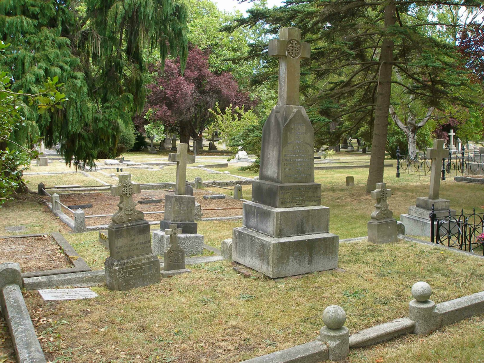 Edgar Crow Baker family burial plot. Ross Bay Cemetery, Victoria, B.C.