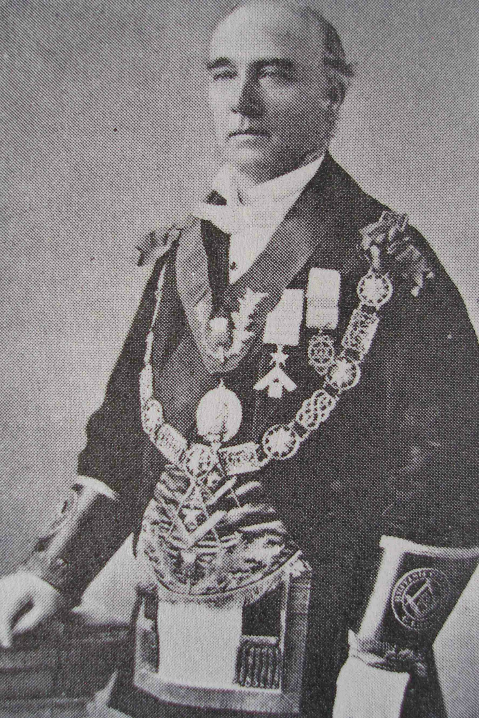 Eli Harrison Sr. as Grand Master of B.C.