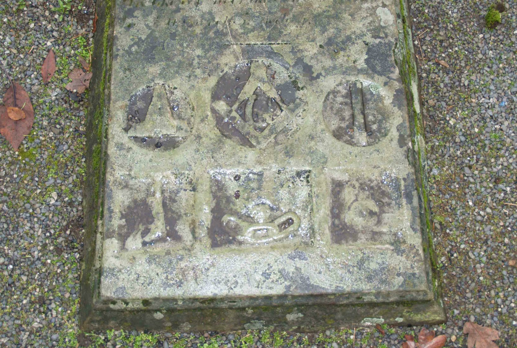 Masonic and I.O.O.F. Imagery on James Orr tombstone, Pioneer Square, Victoria, B.C.