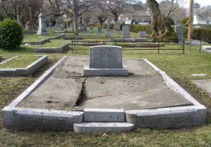 John Frederick Becker grave, Ross Bay Cemetery, Victoria, B.C.