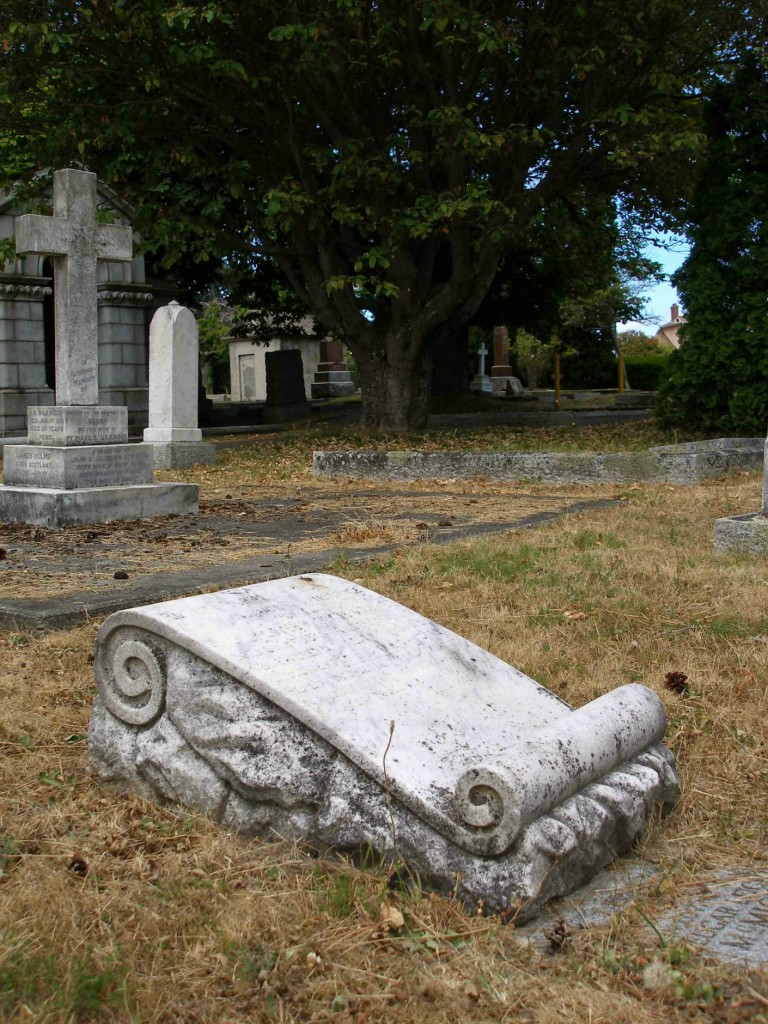 Robert Burns McMicking (1843-1915) grave, Ross Bay Cemetery, Victoria, B.C.