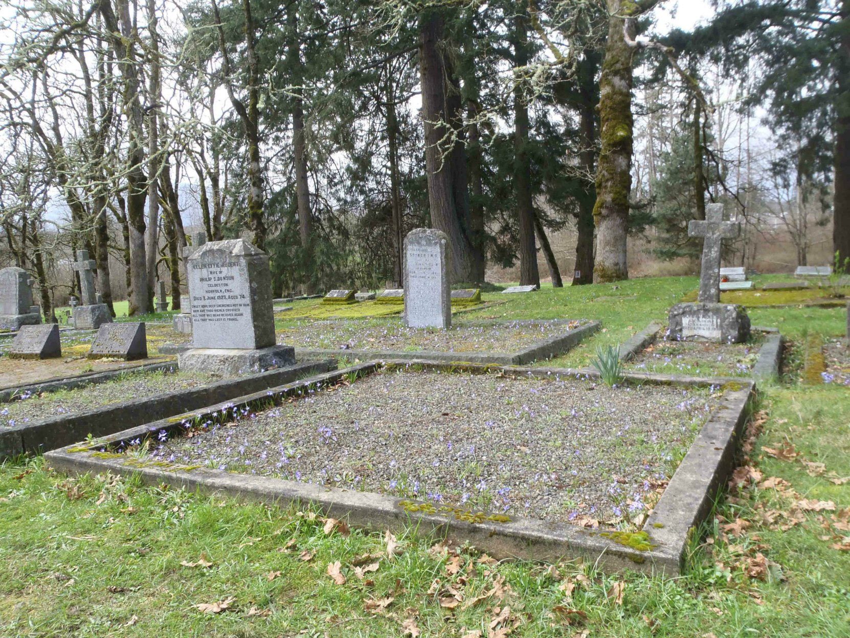 Richard Guy Mellin grave, St. Peter's Quamichan Anglican cemetery, North Cowichan, B.C.