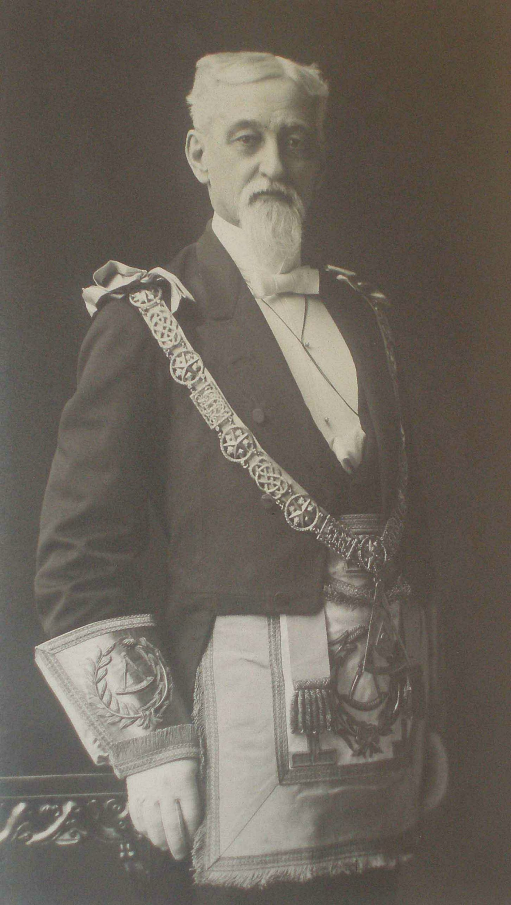 Robert Burns McMicking (1843-1915) as Grand Master of British Columbia, 1894-95 (Photo courtesy of Grand Lodge of B.C. & Yukon)