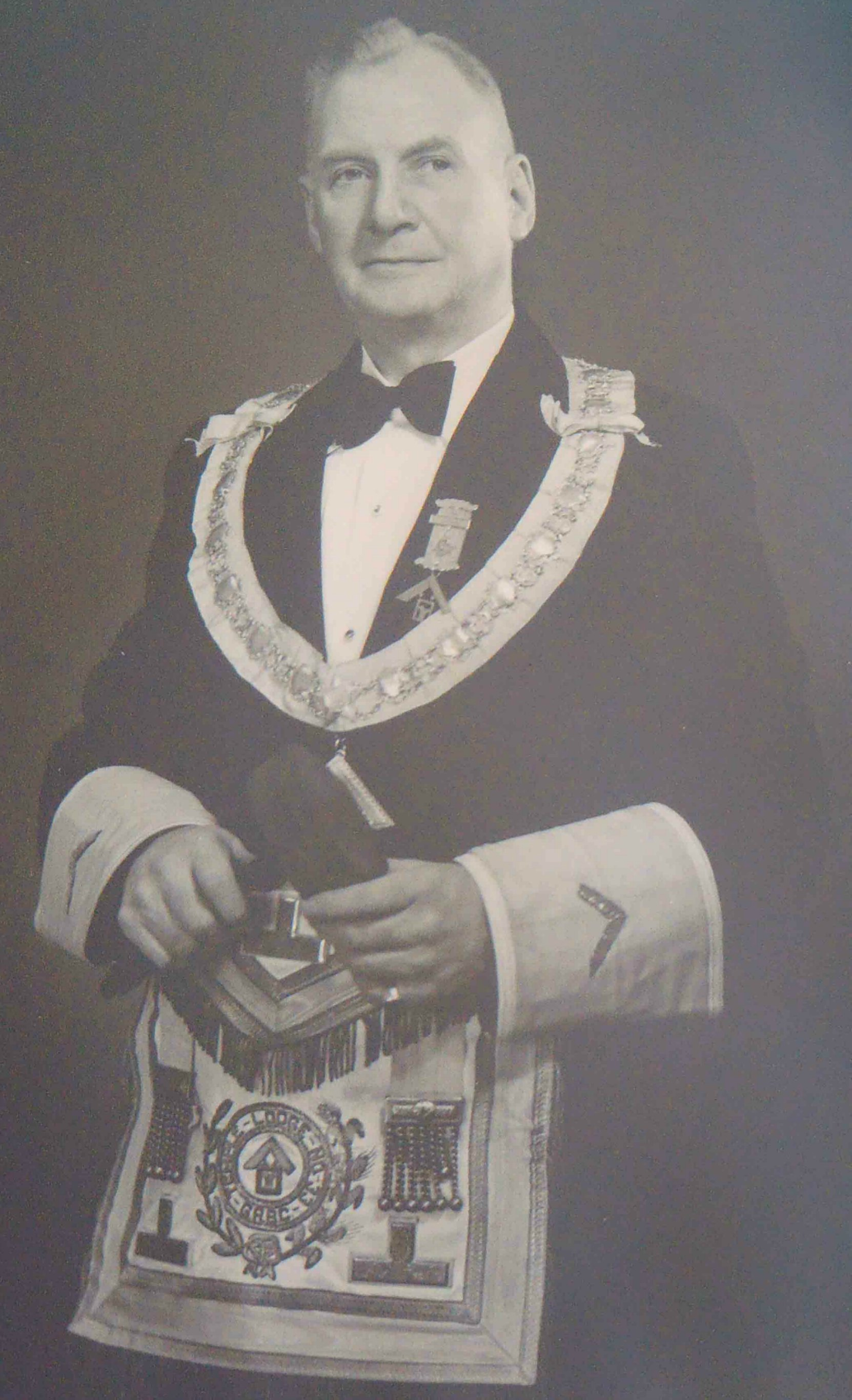 Robert Keddie Cairns (died 1973, aged 83), served as Worshipful Master of Temple Lodge, No.33 in 1935 (photo copyright Temple Lodge, No.33)