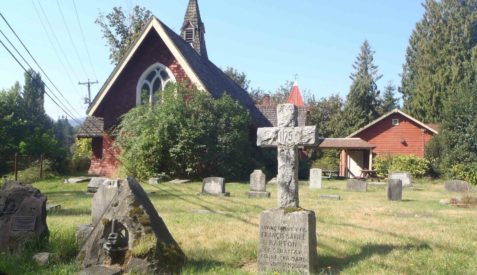 St. Andrew's Anglican Cemetery and its deconsecrated church, Cowichan Station, B.C.