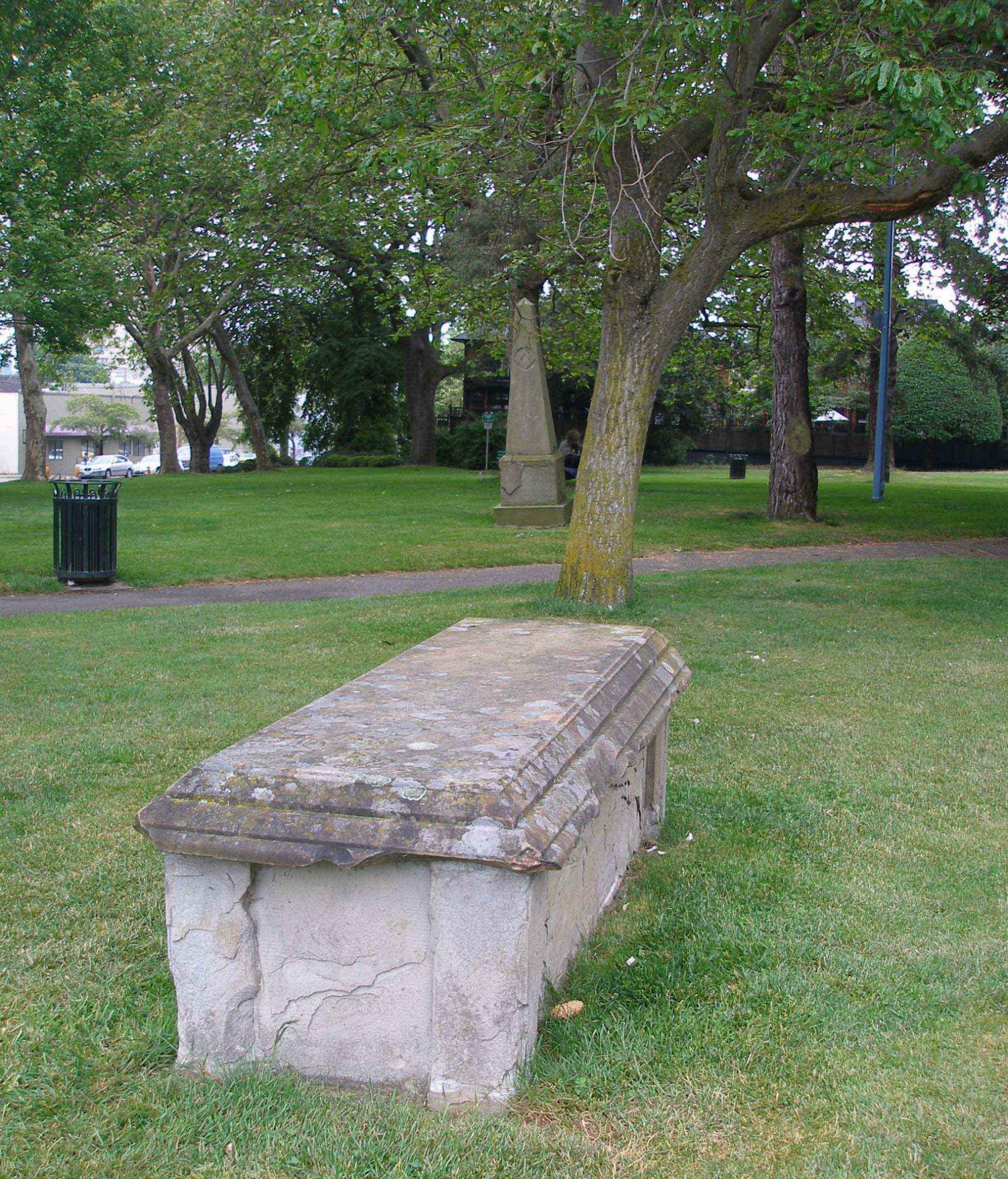 Thomas Carter grave marker, Pioneer Square, Victoria, B.C.