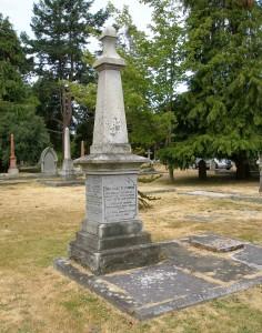 Amor de Cosmos grave, Ross Bay Cemetery, Victoria, B.C.