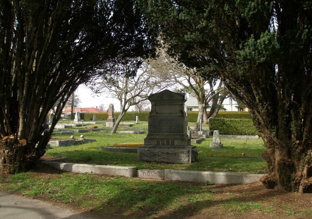 Grave of Dixi Harrison Ross, Ross Bay Cemetery, Victoria, B.C.