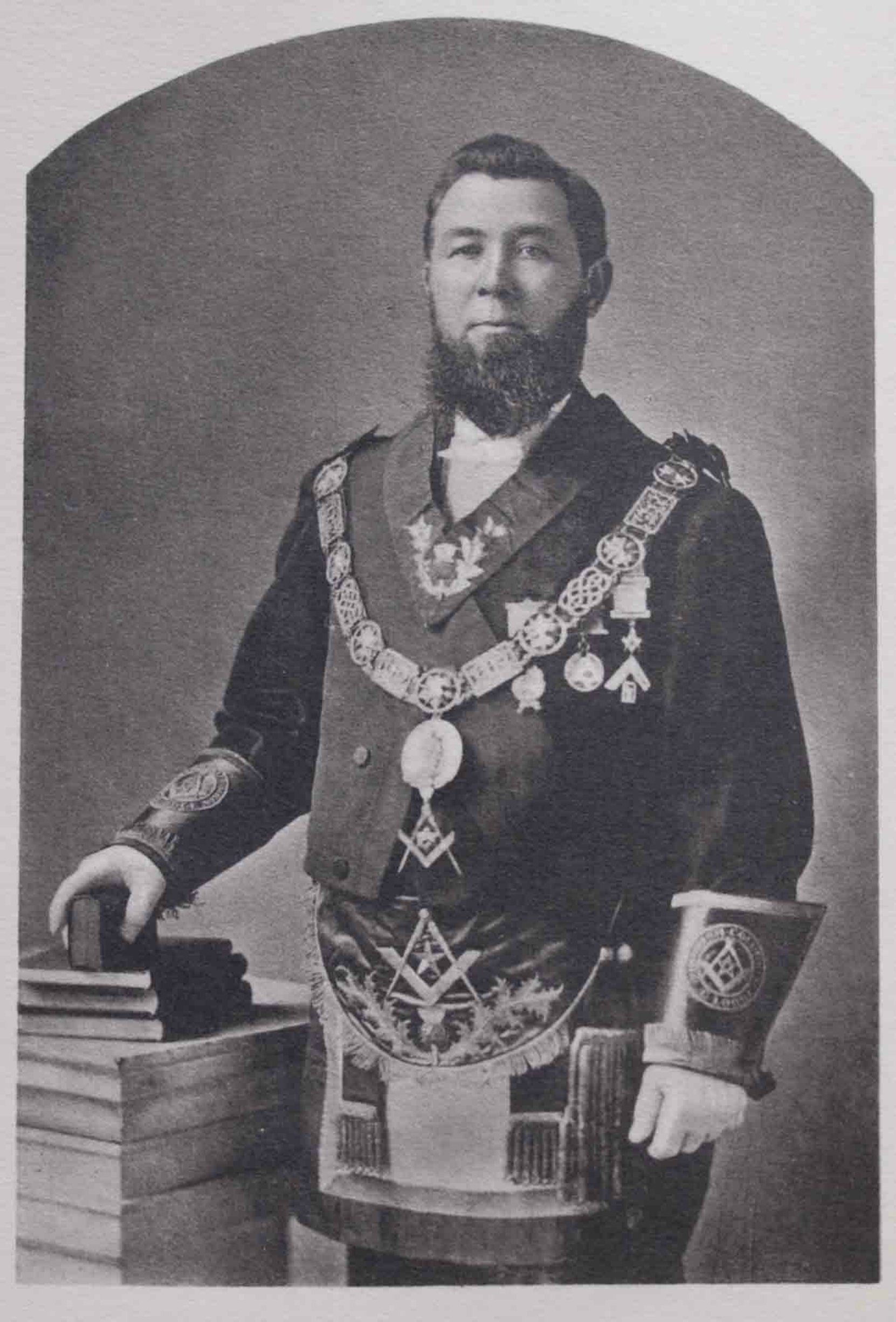 Frederick Williams as Grand Master of B.C., 1876-1877.