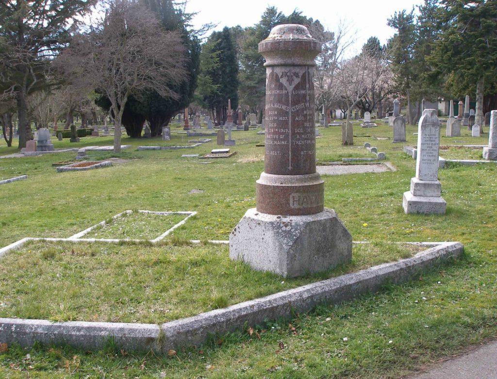 George Washington Haynes family burial plot, Ross Bay Cemetery, Victoria, B.C.