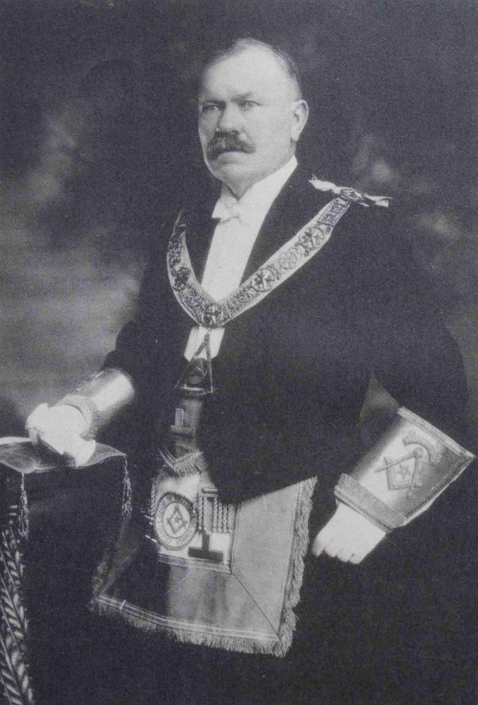 Stephen Jones as Grand Master of B.C., 1924-25 (Photo - Grand Lodge of B.C. & Yukon)