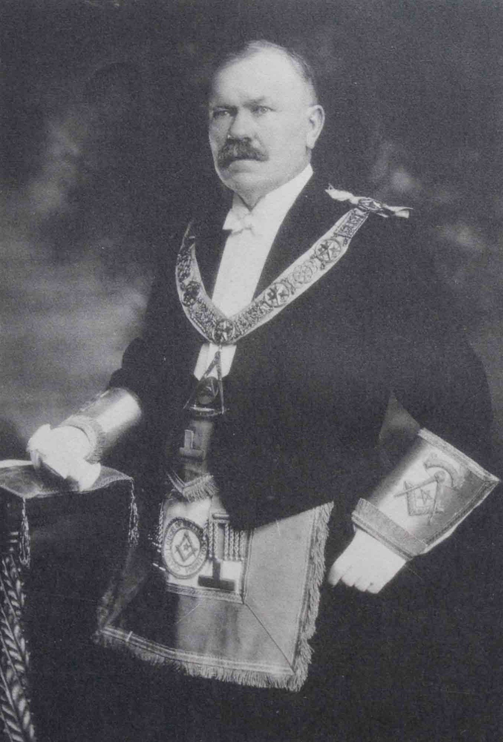 Stephen Jones as Grand Master of B.C., 1924-25 (Photo - Grand Lodge of B.C. & Yukon)
