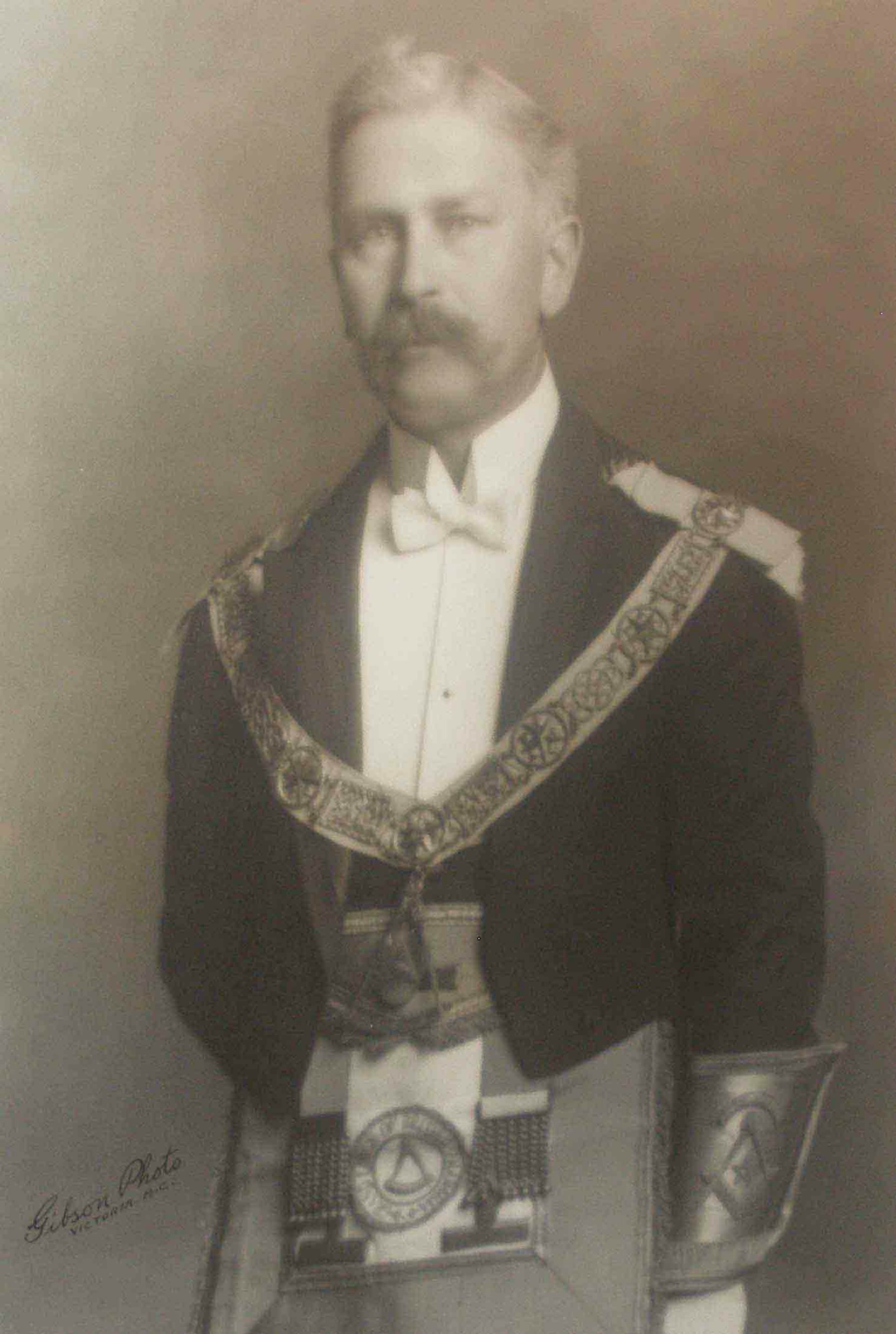 Wallace Samuel Utley Terry as Grand Master of B.C., 1921-22