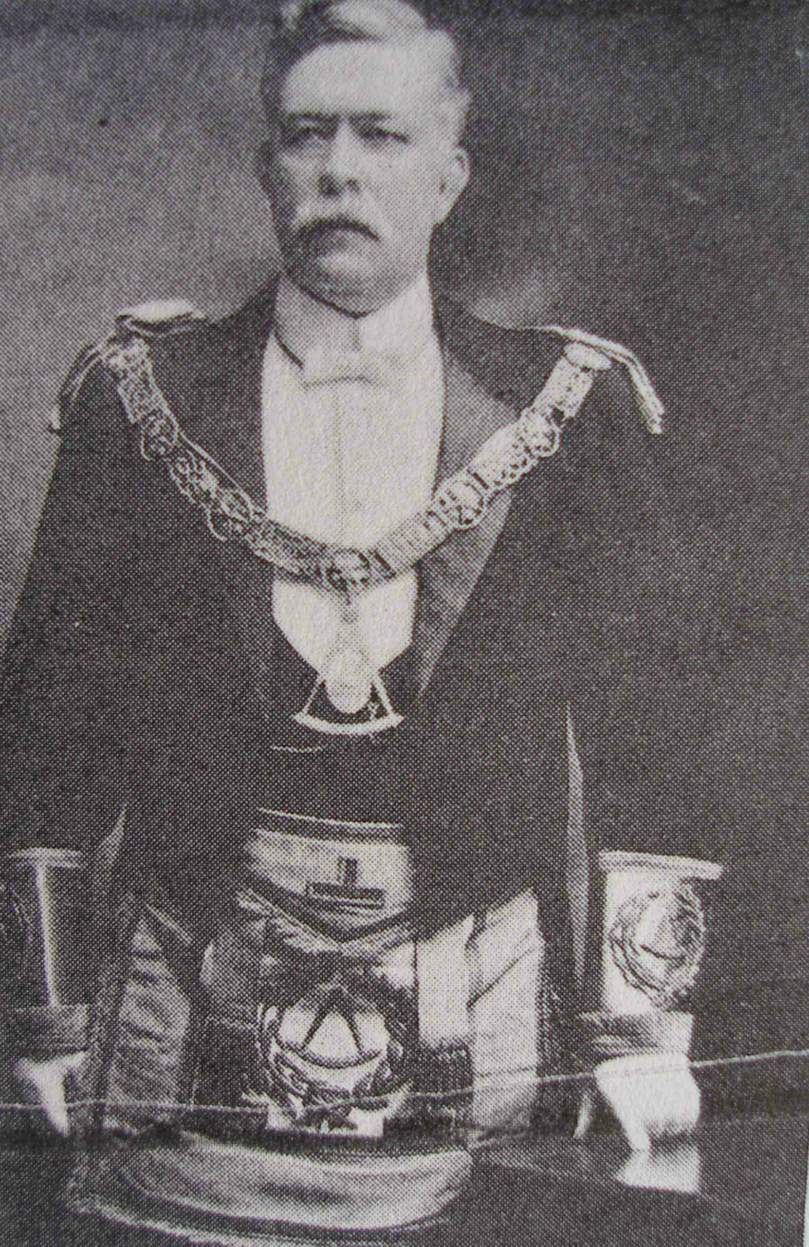 William Kyle Houston as Grand Master of B.C., circa 1908