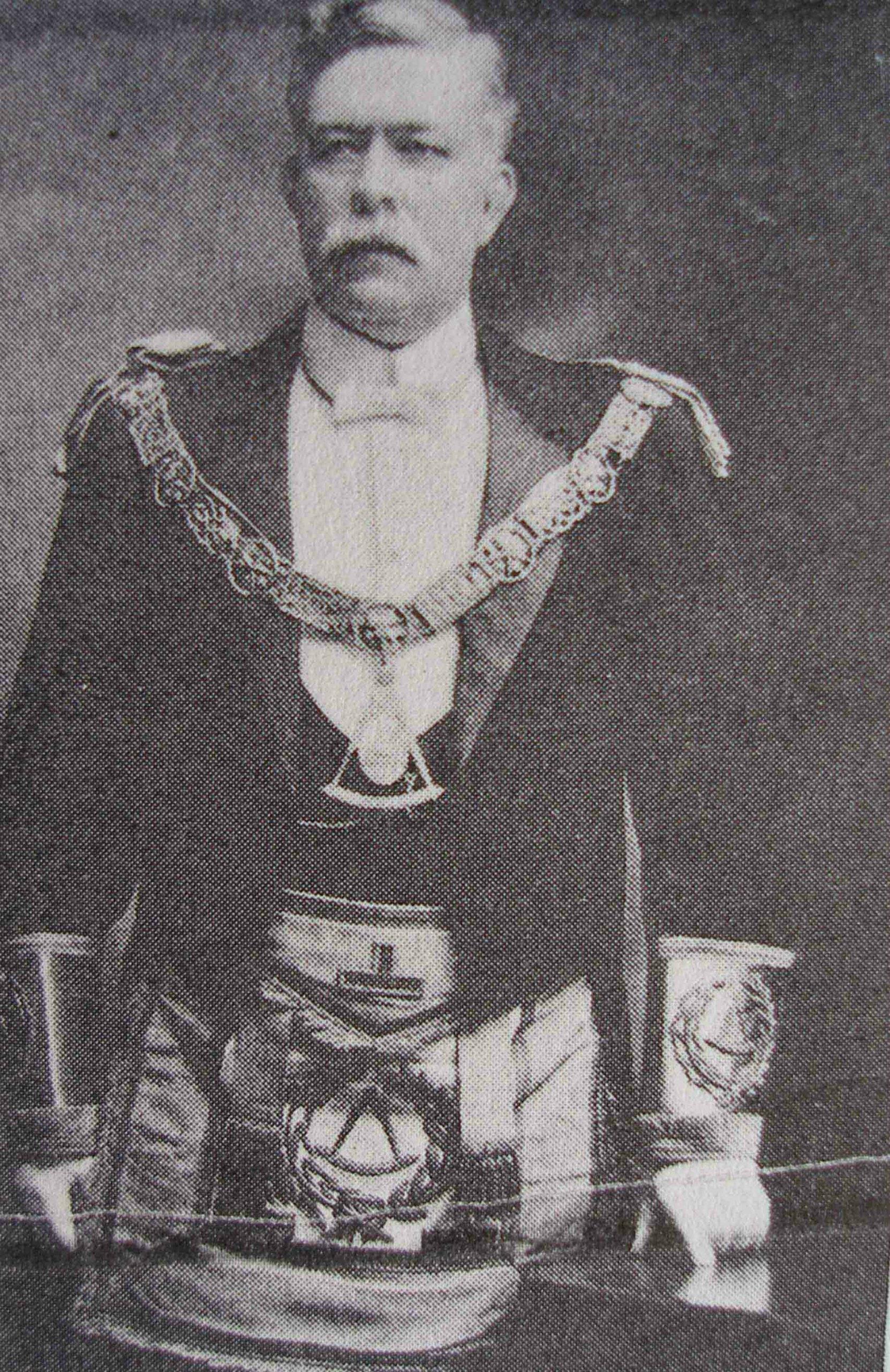 William Kyle Houston as Grand Master of B.C., circa 1908
