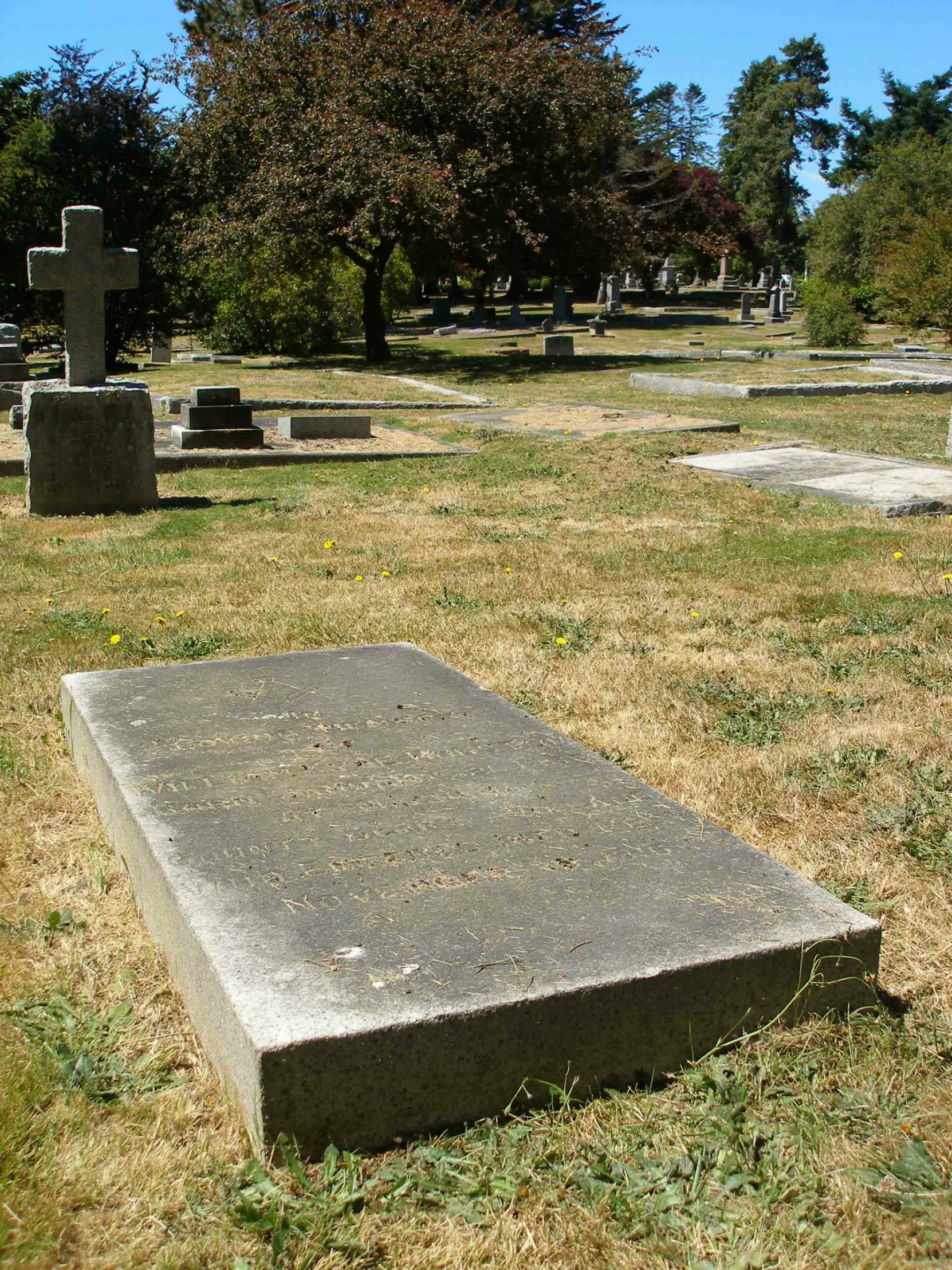 William Kyle Houston grave, Ross Bay Cemetery, Victoria, B.C.