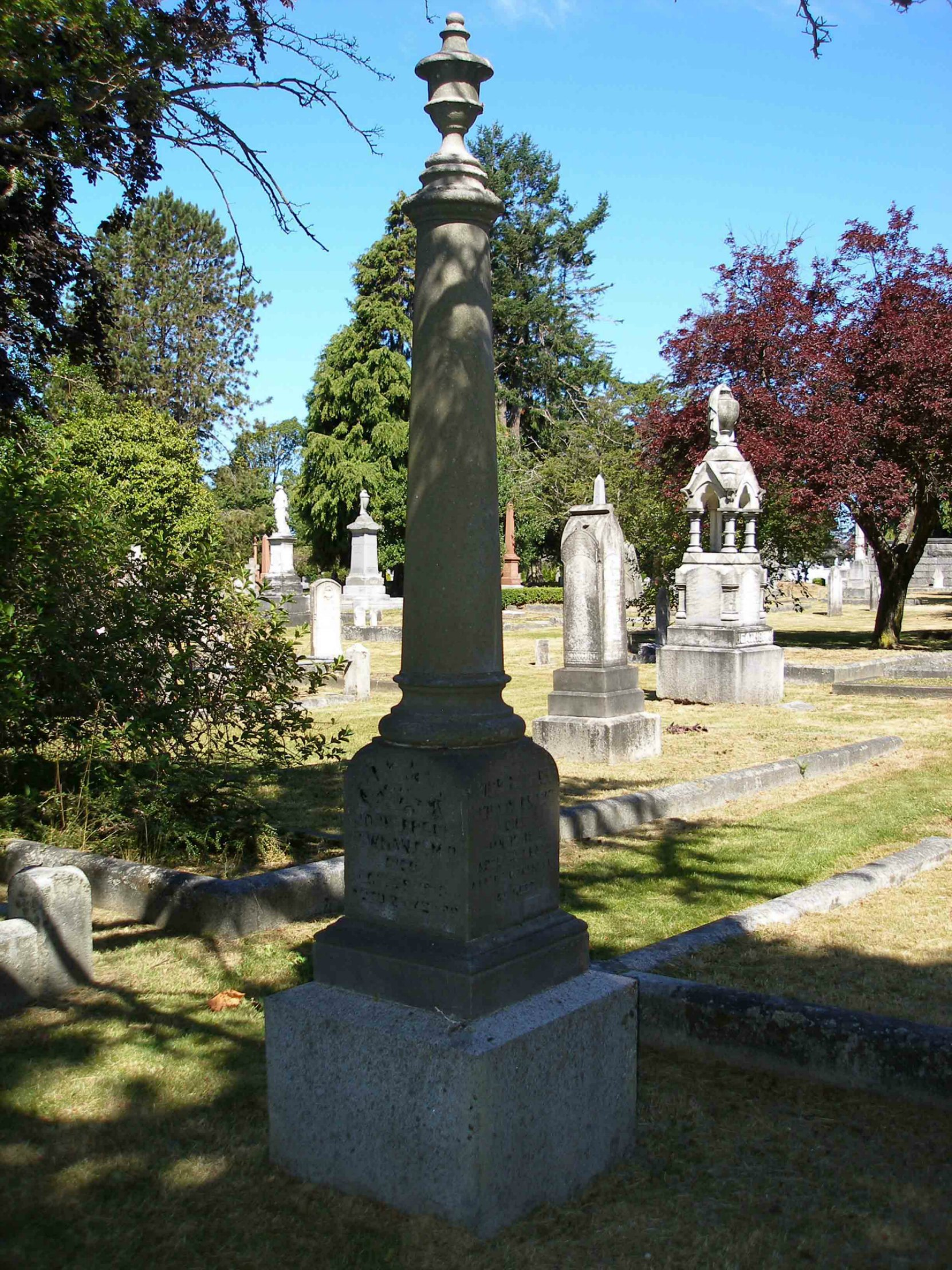 The grave of Dr. John Errol Newman in Ross Bay cemetery, Victoria, B.C.
