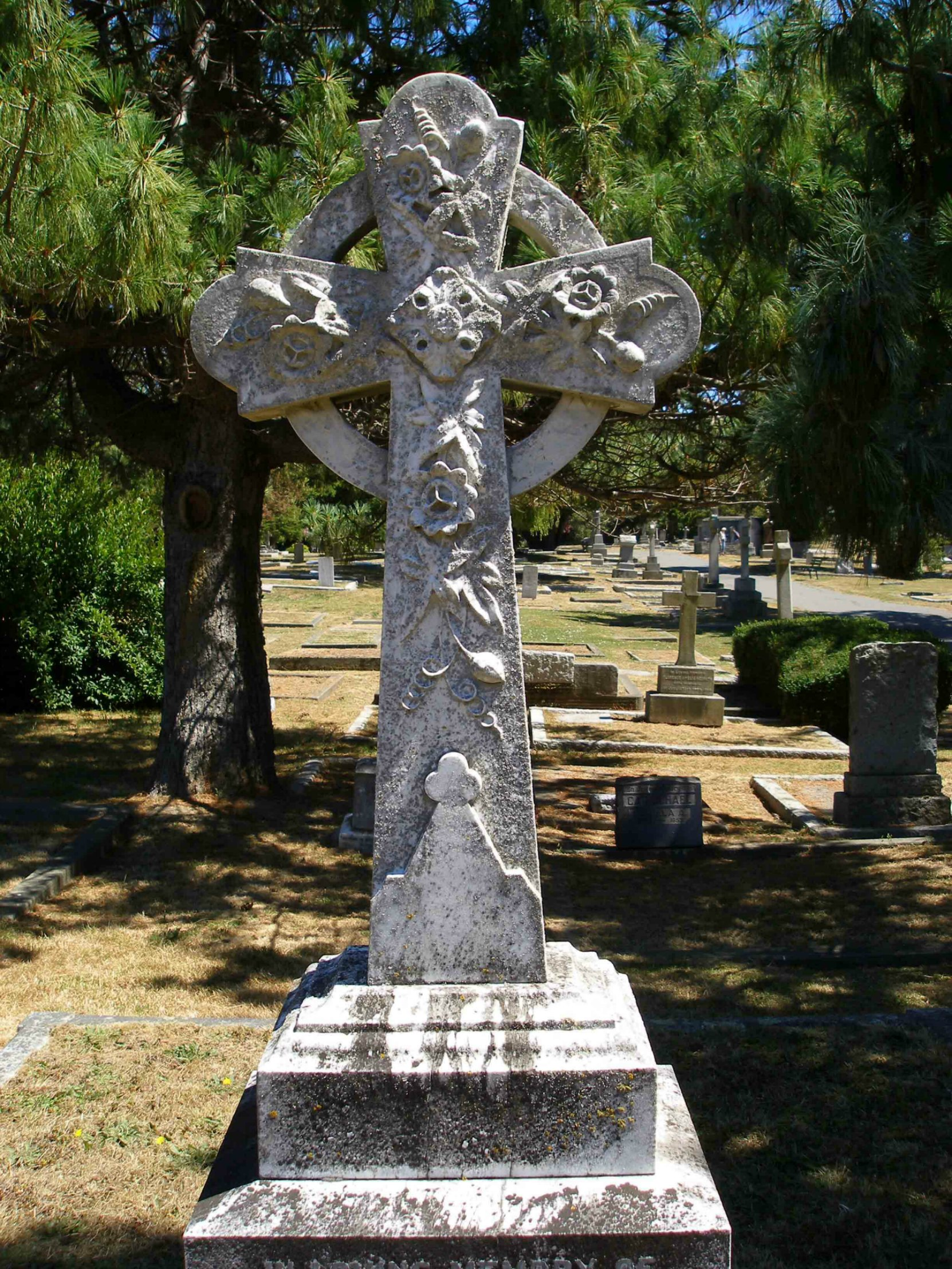 Celtic Cross on the grave of Colonel Edward Gawlor Prior, Ross Bay Cemetery, Victoria, B.C.