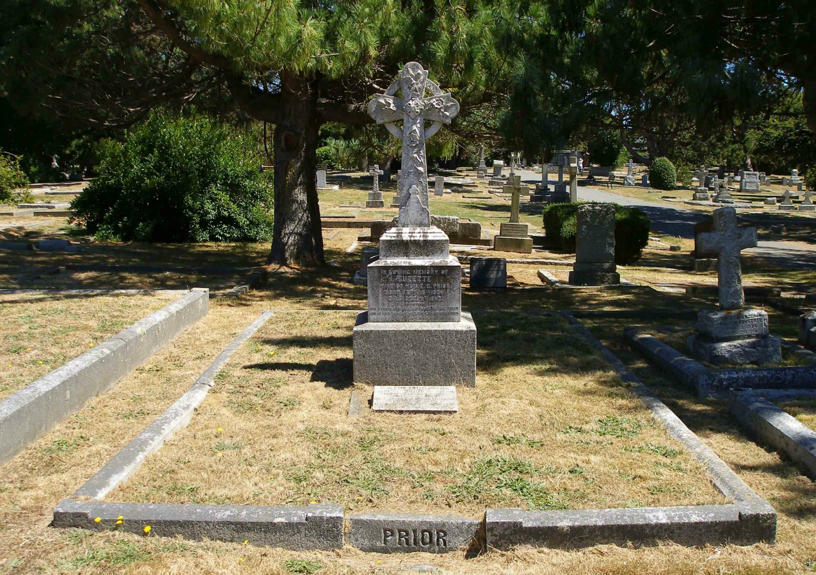 Grave of Colonel Edward Gawlor Prior, Ross Bay Cemetery, Victoria, B.C.