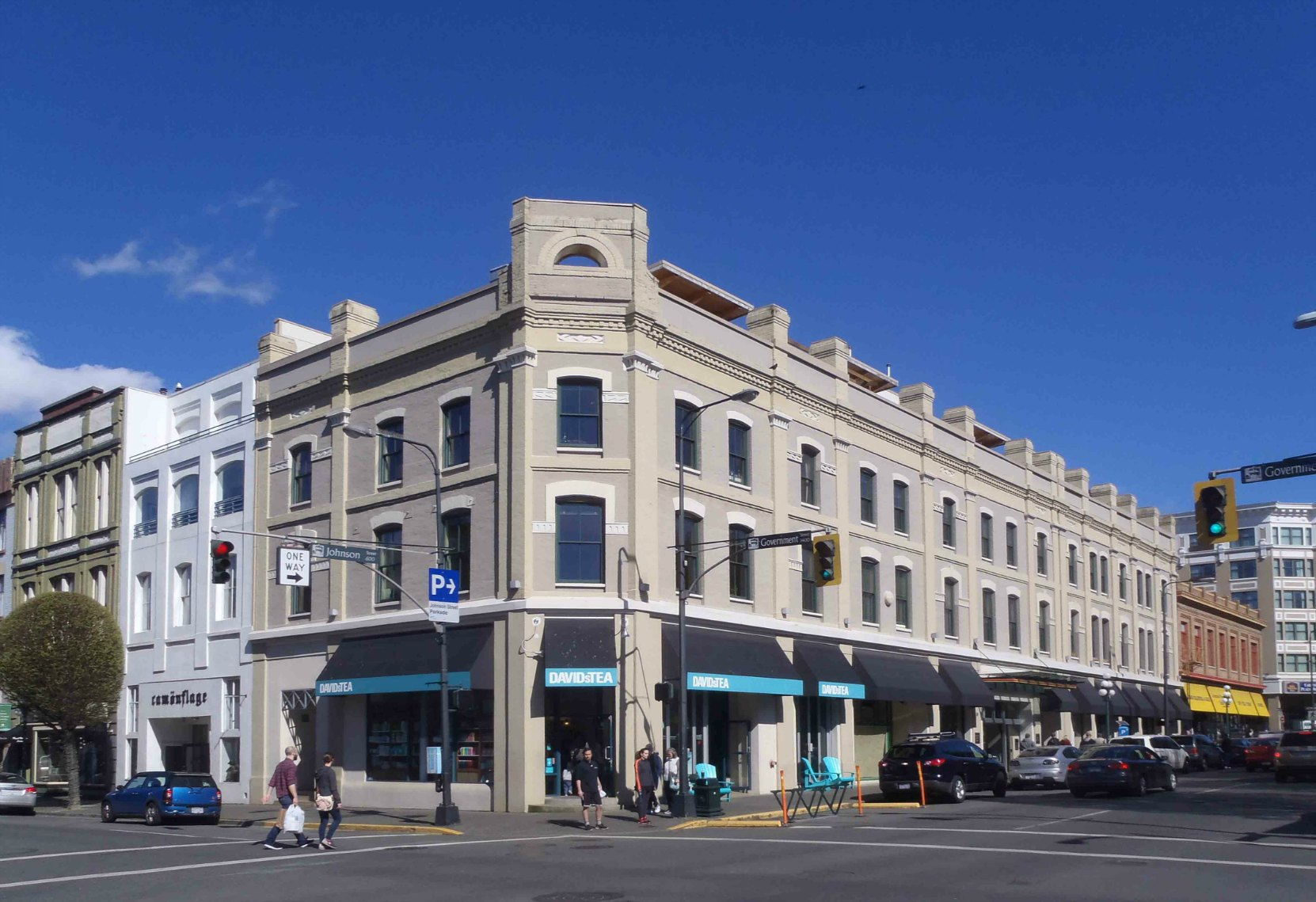 This Heritage Building at 1401 Government Street/606-614 Johnson Street in downtown Victoria was built in 1888 as a store for Edward G. Prior's hardware business, E.G. Prior & Co.