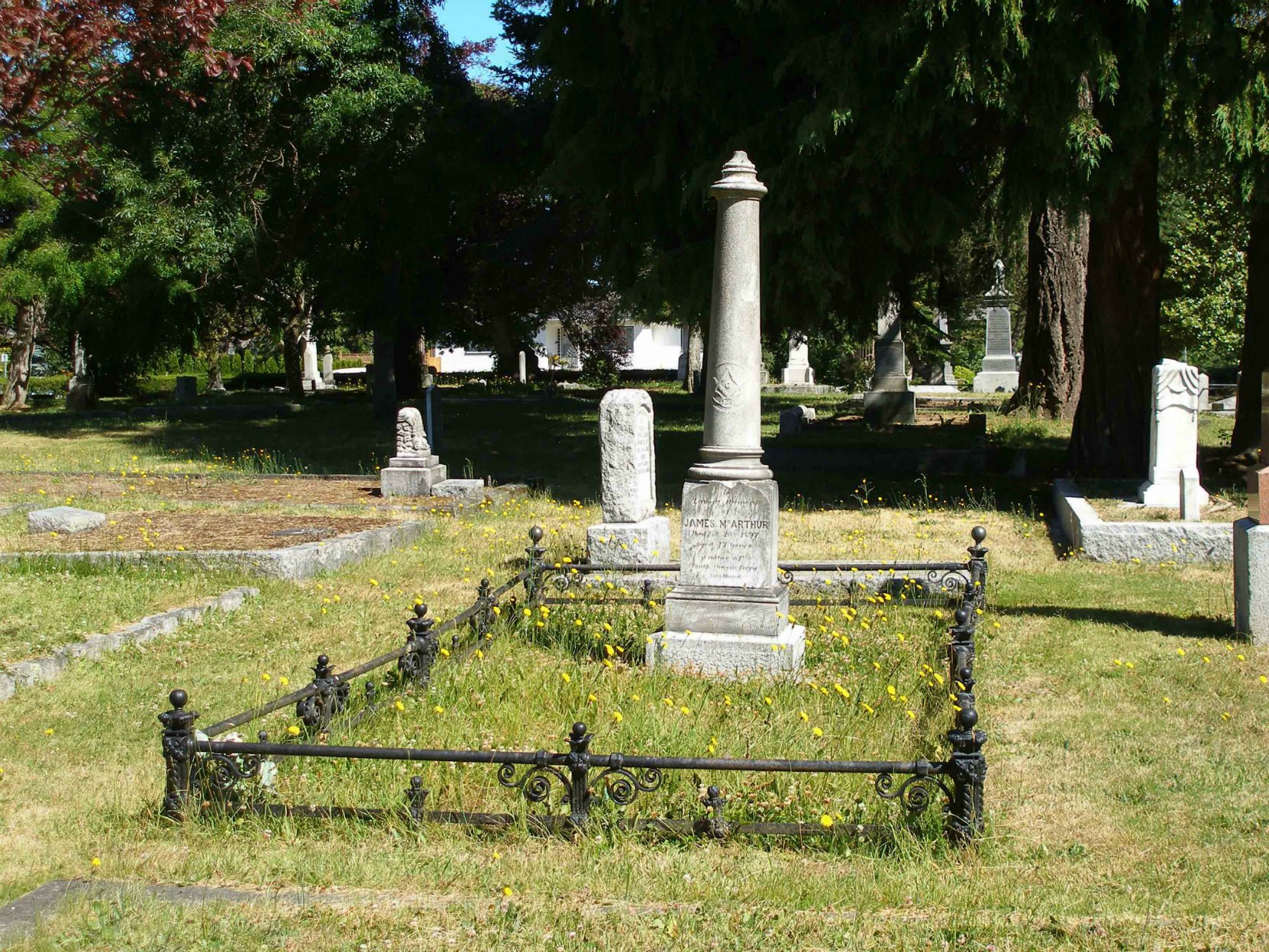 James McArthur grave, Ross Bay Cemetery, Victoria, B.C.