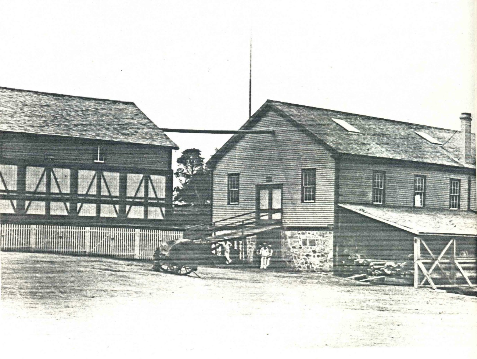 The Royal Navy store house/sail loft where James Frederick Bailey was shot by Alfred Frith. The building is no longer extant.