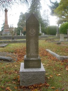 The grave of Thomas Cuniff, Ross Bay Cemetery, Victoria, B.C.