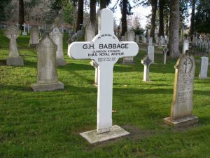 George Henry Babbage, grave marker, Naval & Veterans Cemetery, Esquimalt, B.C.
