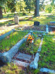 Robert Bulmer Waldon grave marker, Chemainus Cemetery, Chemainus, B.C.