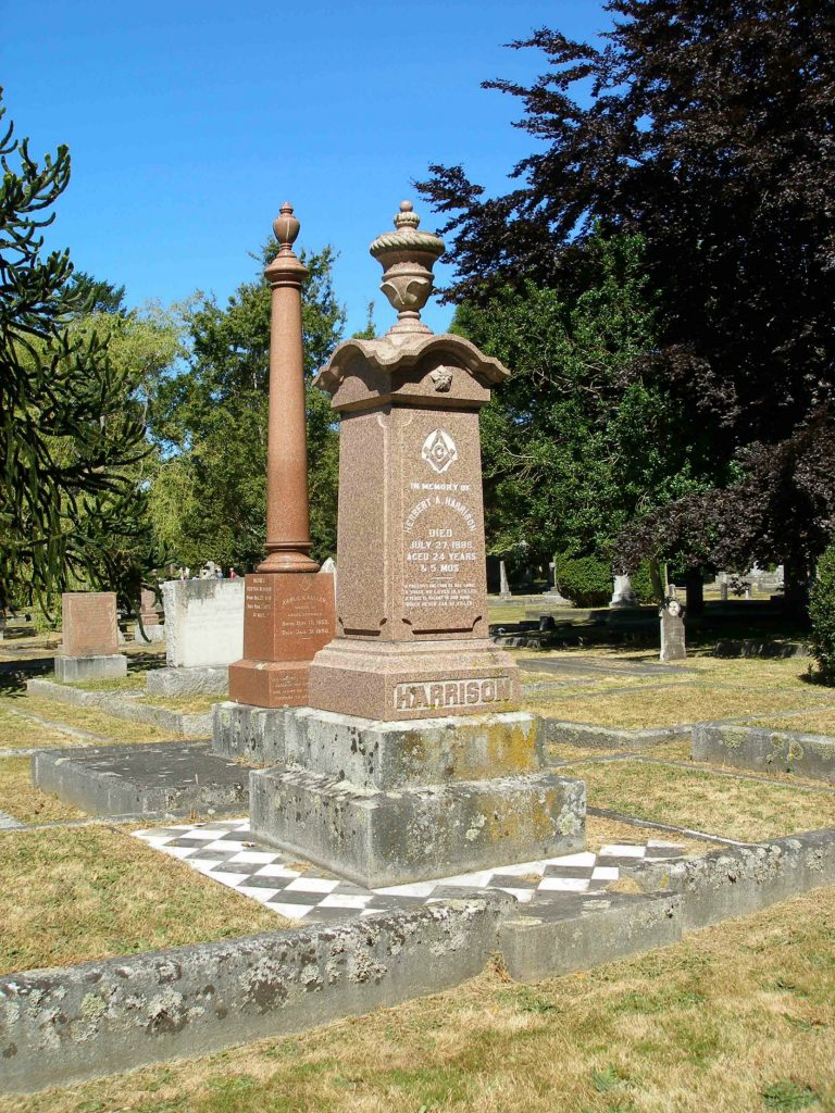 Herbert A. Harrison grave, Ross Bay Cemetery, Victoria, B.C.