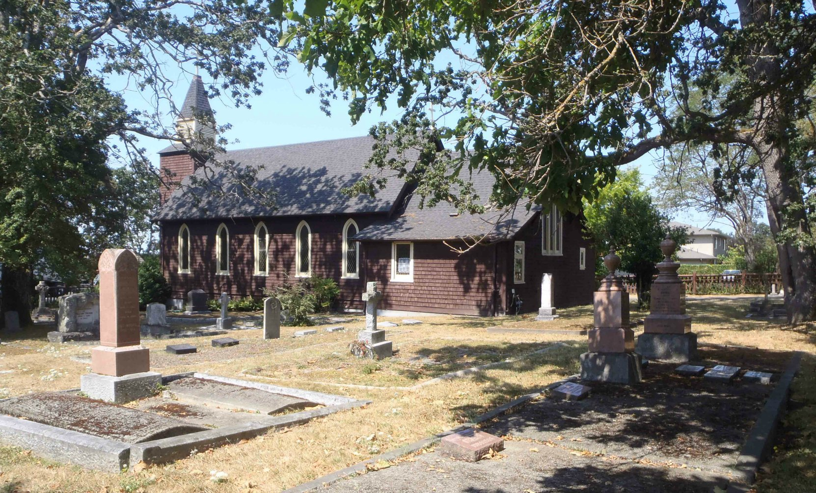 The cemetery of Holy Trinity Anglican Church, Sidney, B.C.
