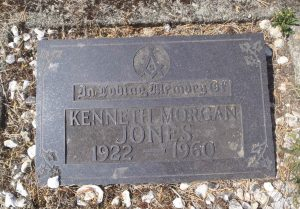 Kenneth Morgan Jones grave marker, Holy Trinity Anglican cemetery, North Saanich, B.C.