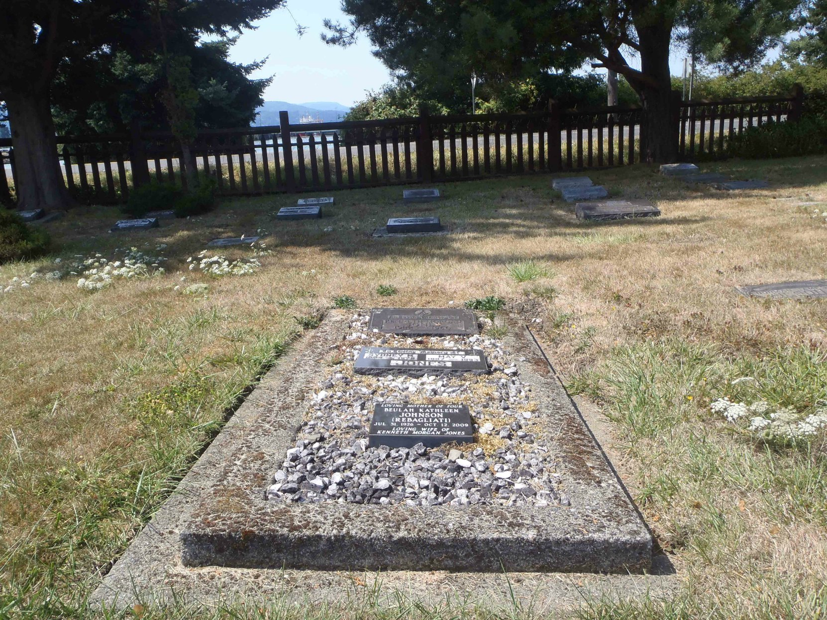 Kenneth Morgan Jones family grave, Holy Trinity Anglican cemetery, North Saanich, B.C.