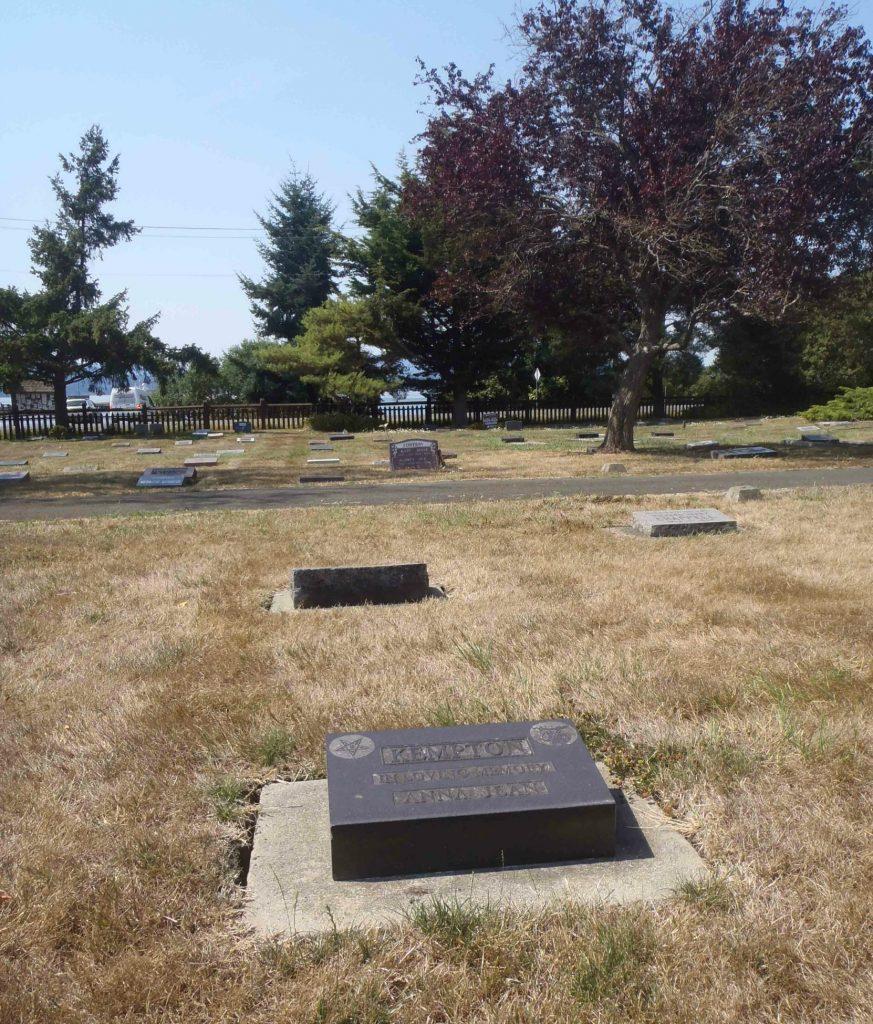 Anna Jean Kempton grave, Holy Trinity Anglican cemetery, North Saanich, B.C.