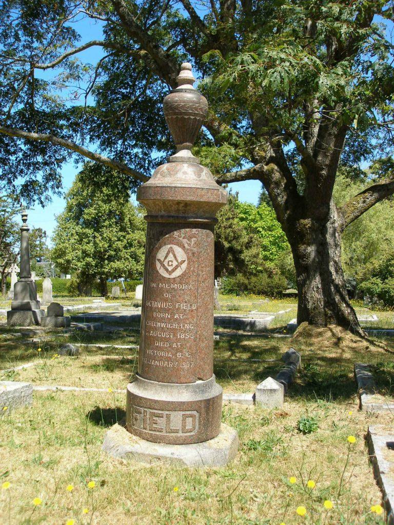 Octavius Field grave, Ross Bay cemetery, Victoria, B.C.