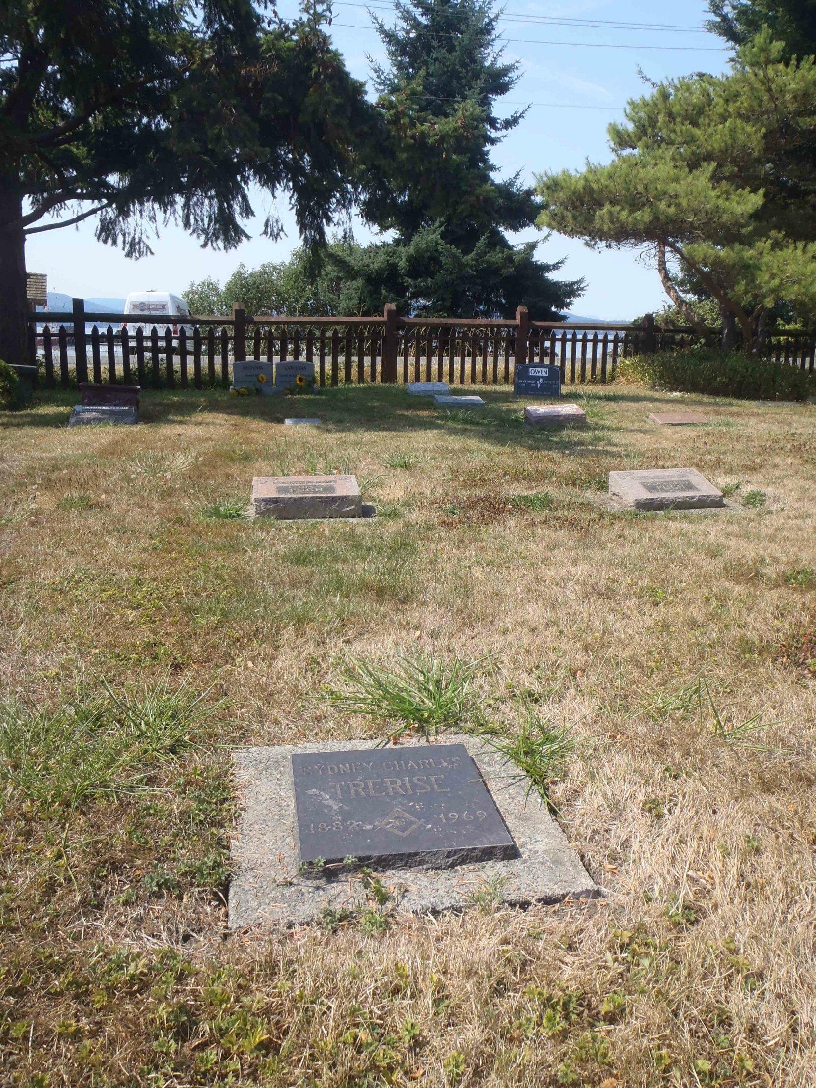 Sydney Charles Trerise grave, Holy Trinity Anglican cemetery, North Saanich, B.C.